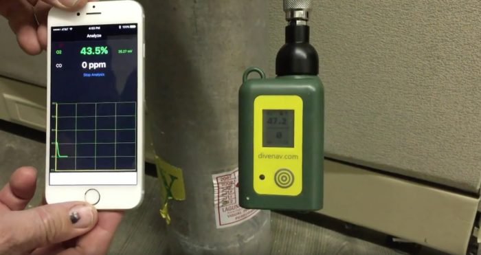 "DiveNav recently introduced a dual-gas analyzer called the ""Cootwo."""