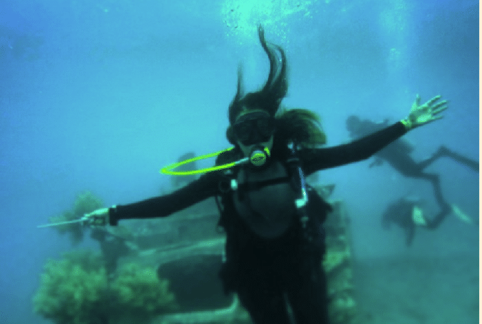 Reem Abdullah Al Edan is attempting the longest underwater dive by a woman.