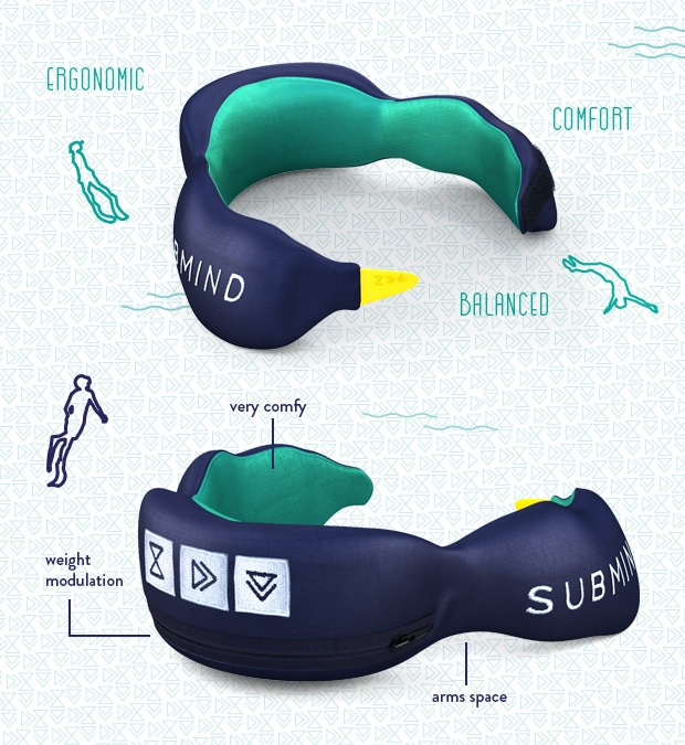 Submind Crowdfunding Campaign - Neckweight and Wetsuit