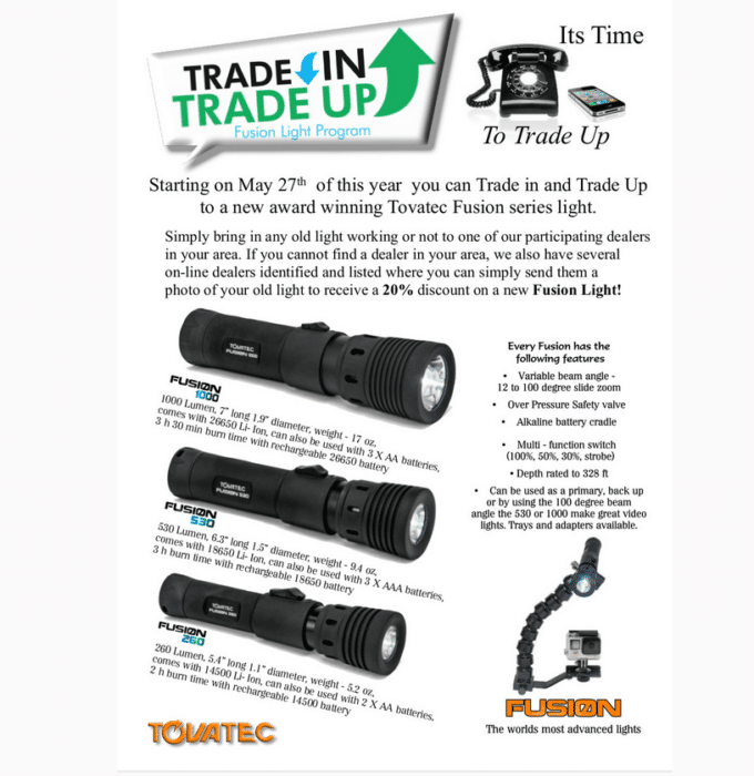 Tovatec Offering Trade-In Program For New Fusion Lights