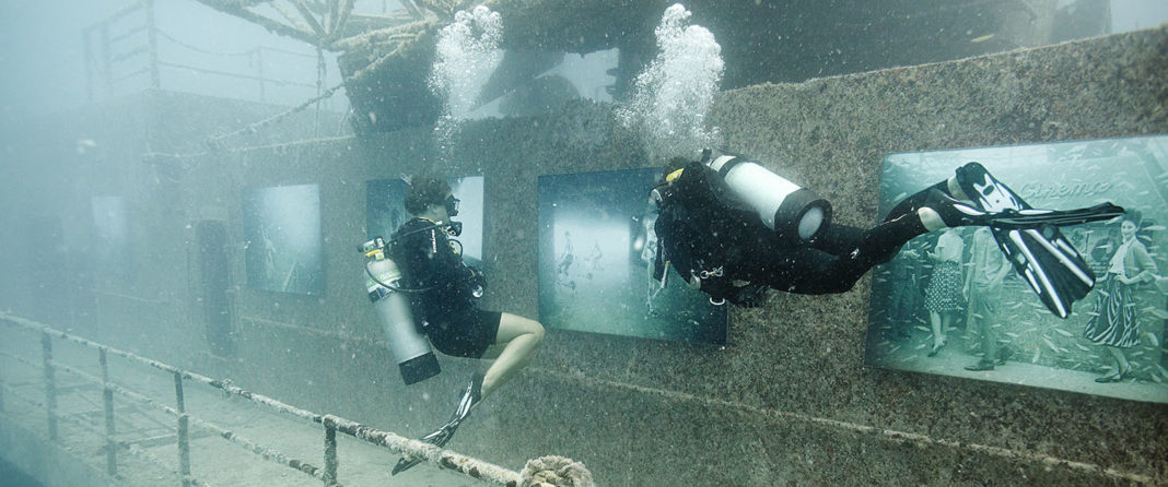 Austrian art photographer Andreas Franke's latest exhibit at the Vandenberg artificial reef can now be visited by scuba divers.