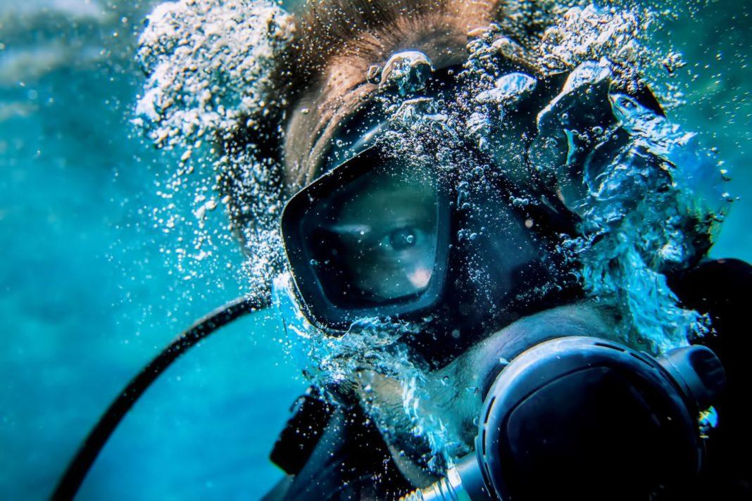 Scuba Diver Selfie - Close Up