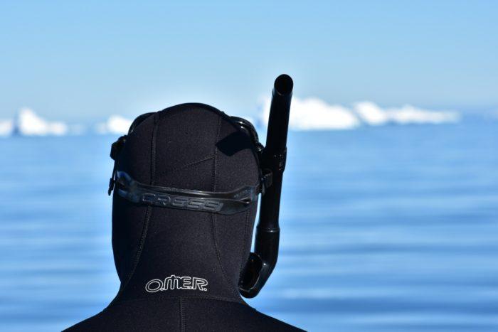 Freedive Antarctica - Divers Head