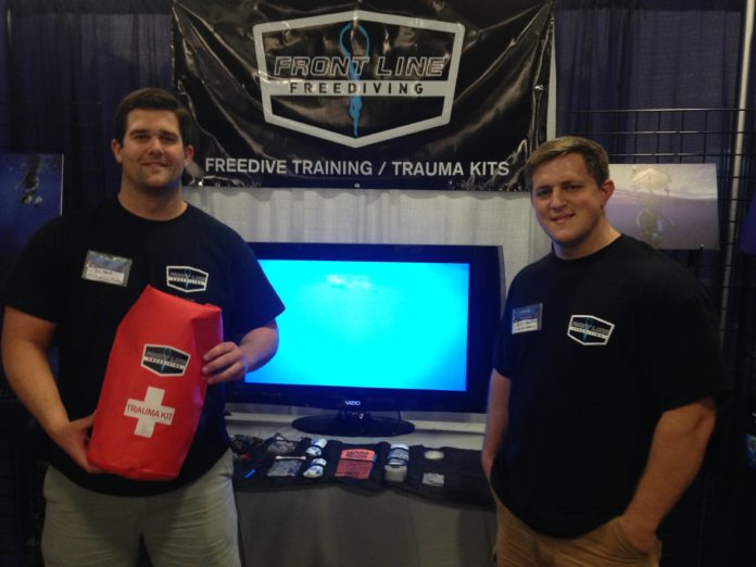 Front Line Freediving showed off its Adventure Trauma Kit at Blue Wild Expo