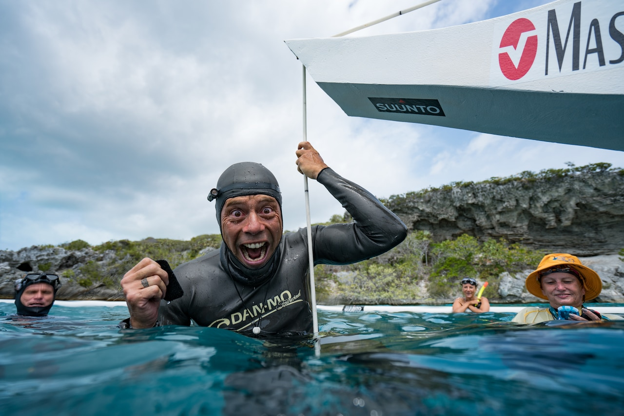 How do you like me now?!!! Stig Pryds celebrates a new personal best (photo by Daan Verhoeven)