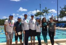 SFAC 2016 Winners L to R - Eddy Gonzalez (US bronze), Luis Arismendi (VEN silver), Leo Lupoli (VEN gold), Ricardo Paris (organizer), Claire Paris (US gold), Karla Mendez (VEN silver), Ashleigh Baird (US bronze)
