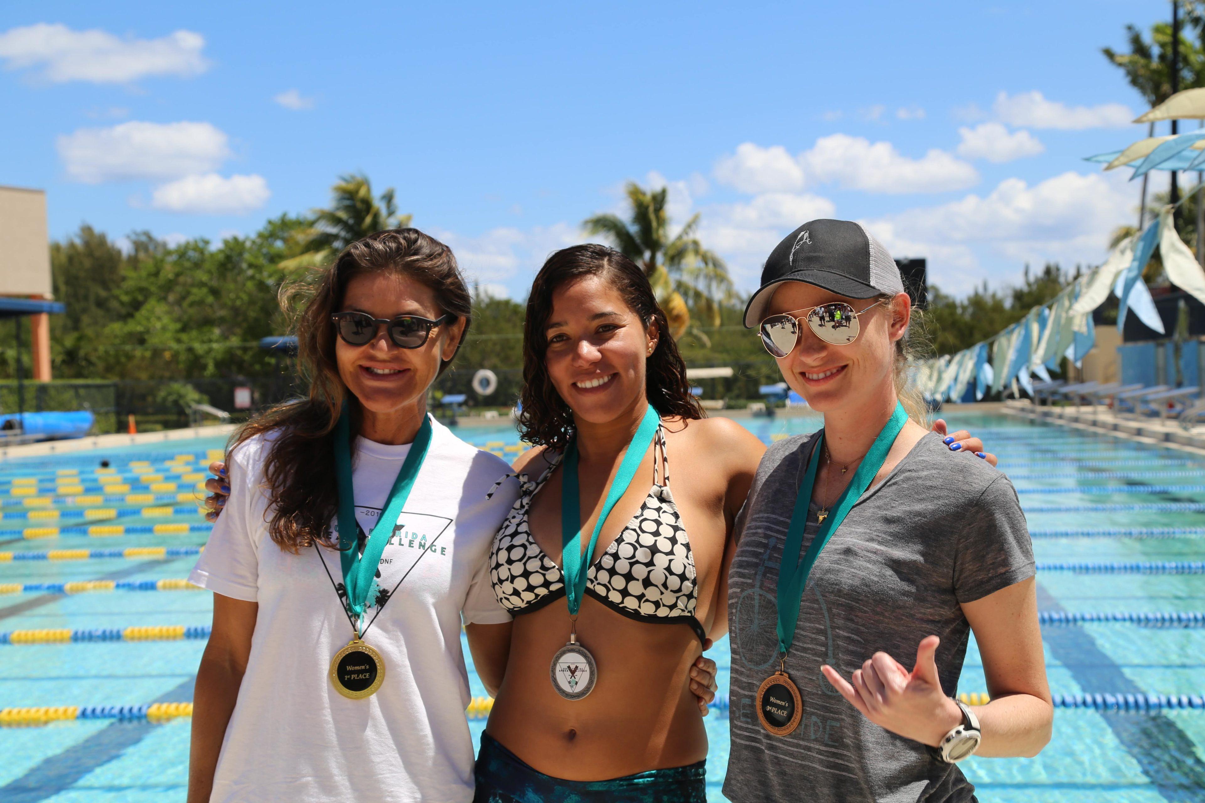 The Lady Winners - Claire Paris (USA), Karla Mendez (Venezuela), Ashleigh Baird (USA)