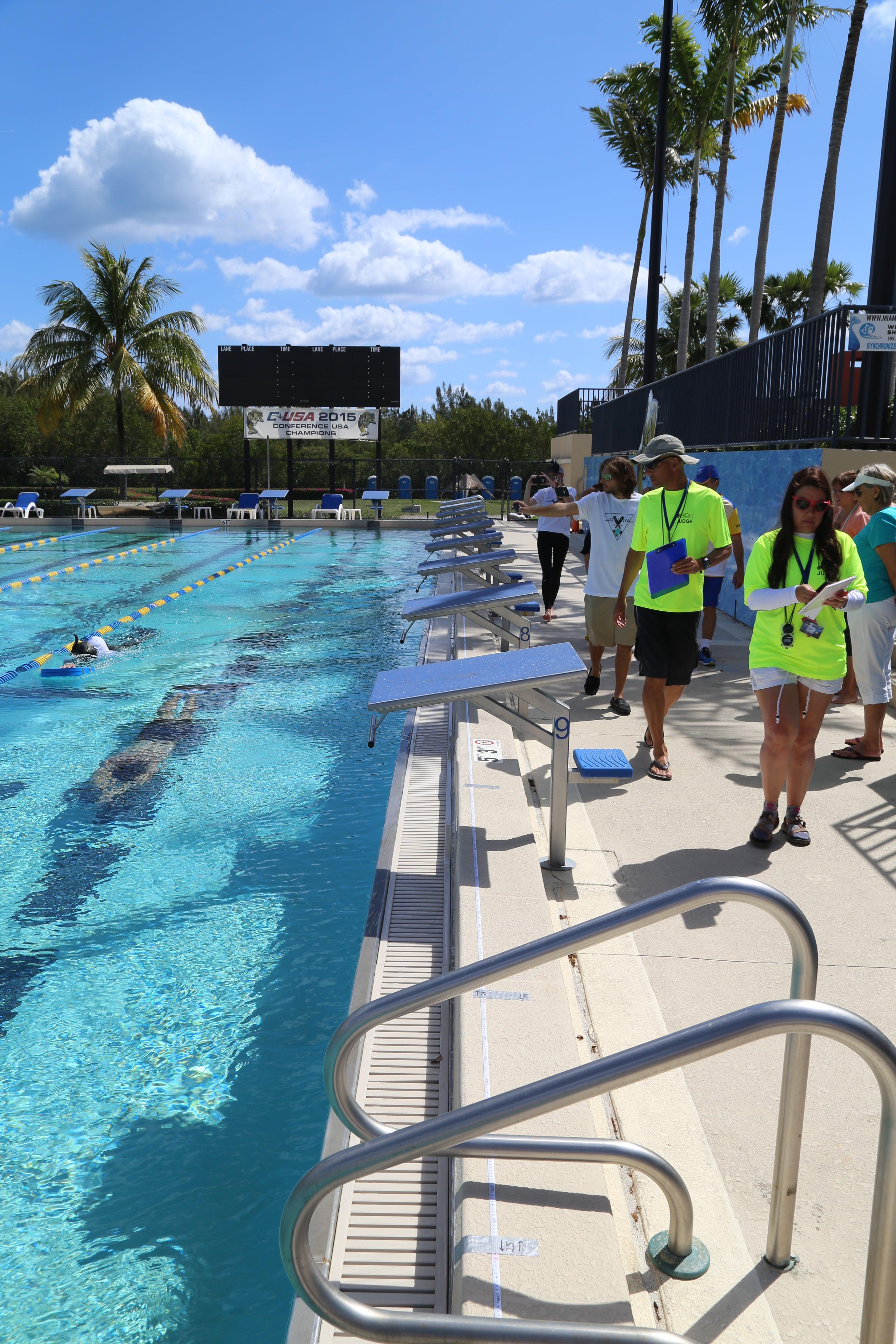 Eddy Gonzalez in the SFAC Dynamic heat at the FIU pool