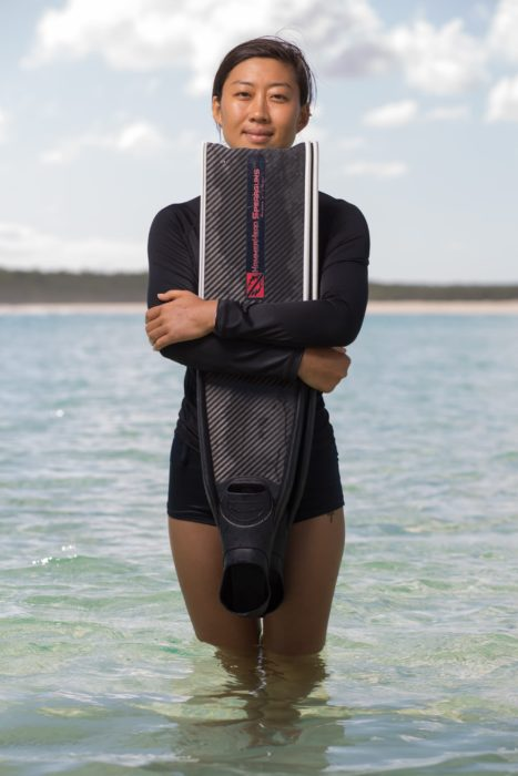 Jessea Lu, China #FacesOfFreediving Photo © Tim Calver/DeeperBlue.com