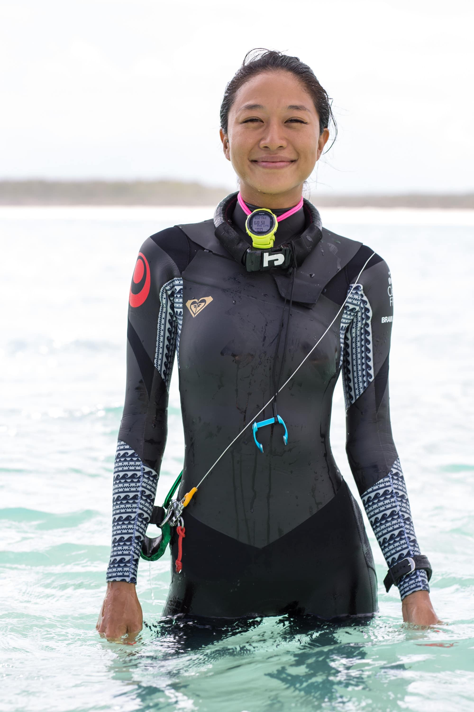 Sachiko Fukumoto, Japan #FacesOfFreediving Photo © Tim Calver/DeeperBlue.com