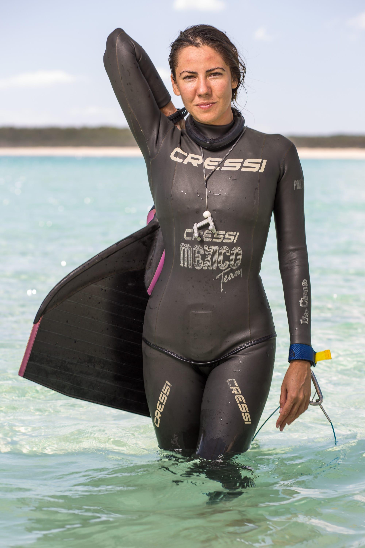 Estrella Novarro Holm, Mexico #FacesOfFreediving Photo © Tim Calver/DeeperBlue.com