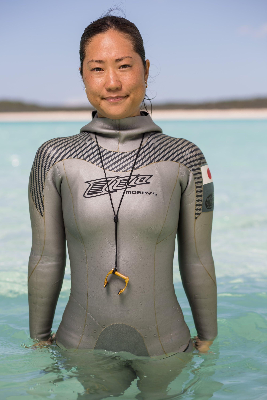 Sayuri Kinoshita, Japan #FacesOfFreediving Photo © Tim Calver/DeeperBlue.com