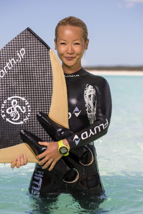 Hanako Hirose, Japan #FacesOfFreediving Photo © Tim Calver/DeeperBlue.com