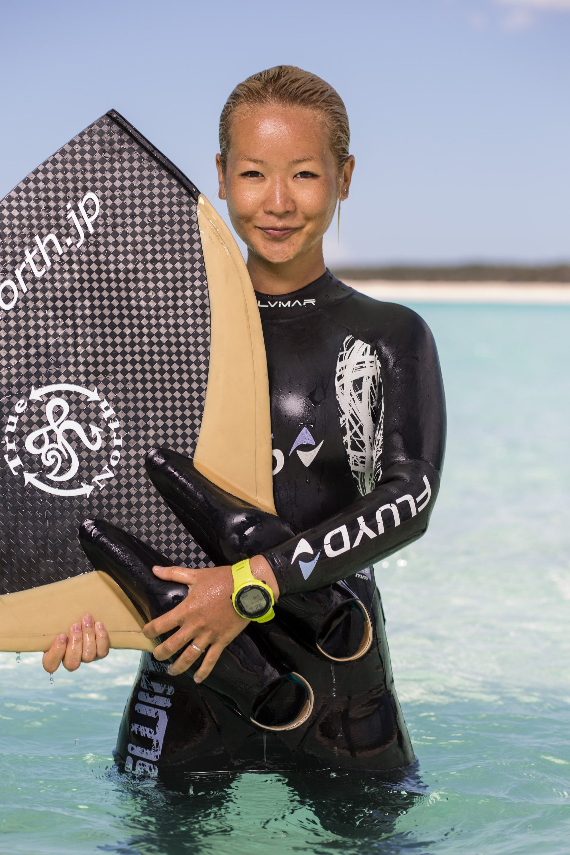Hanako Hirose, Japan #FacesOfFreediving Photo © Tim Calver/DeeperBlue.com