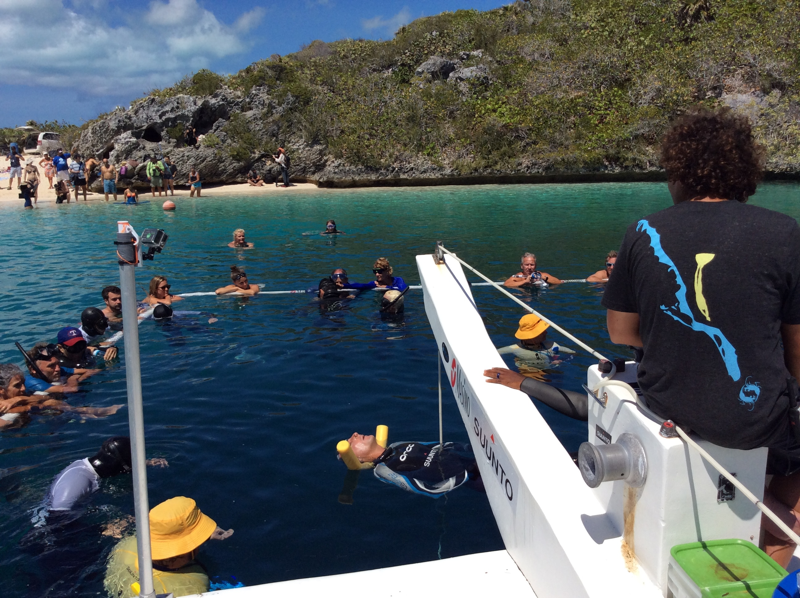 the platform scene before the dive (photo by Francesca Koe)
