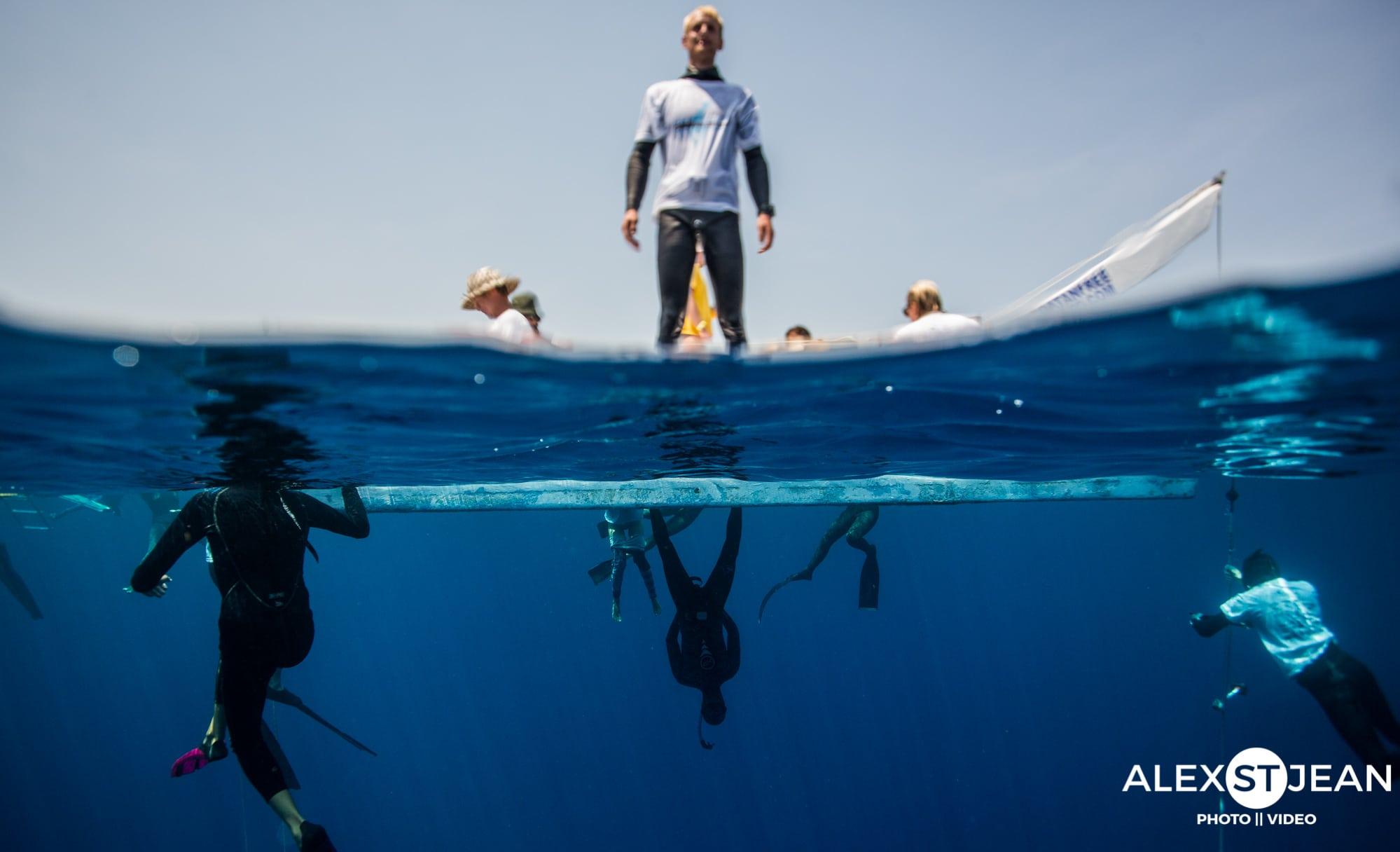 Safety diver, John