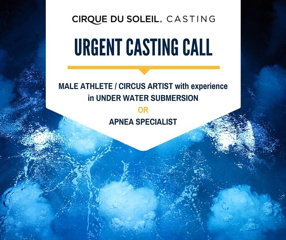 Cirque du Soleil Casting