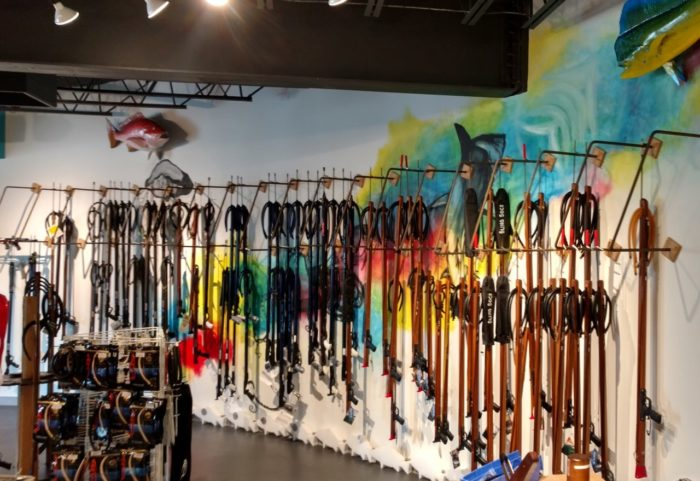 Florida Freedivers Gun Wall