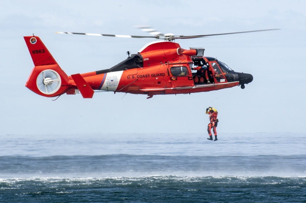 U.S. Coast Guard rescue swimmer