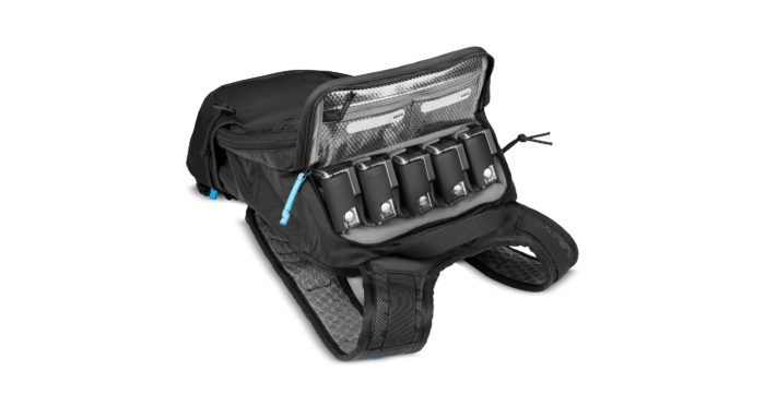 GoPro's new Seeker sportpack can fit up to five cameras and associated gear.