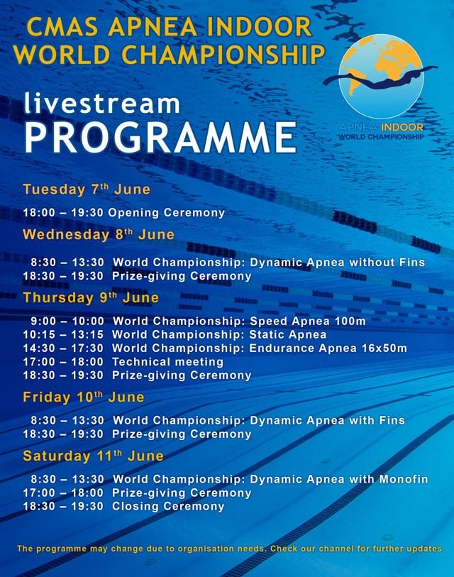 CMAS Championship Programme