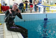 Italian Alessia Zucchini broke a Women's DYN World Record at the CMAS Apnea Indoor World Championship