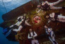 NASA Astronauts Learning Underwater (Photo credit: Karl Shreeves/NASA)