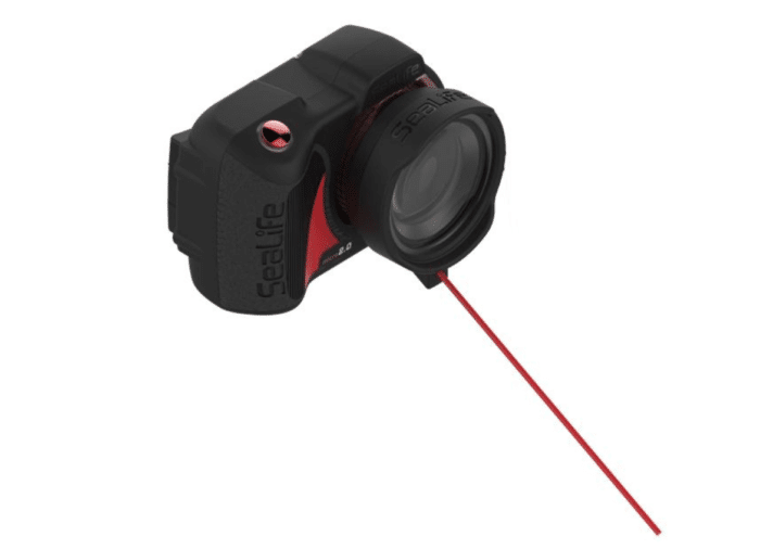 Check out the removable focus distance stick on the SeaLife Super Macro Lens.