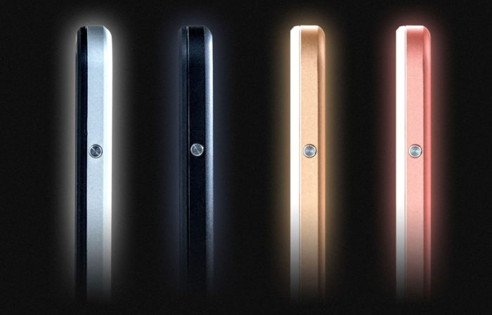 The HITCASE Shield's four color schemes.