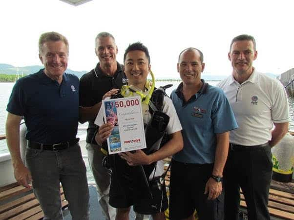 PADI dive center in Australia awards 150,000th certification