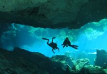 Cavern diving Photograph by Richard Gallagher