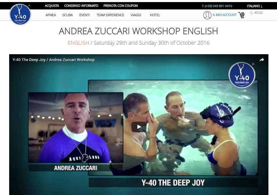 Andrea Zuccari Workshop To Be Held At Y-40 In October
