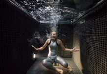 What Do Champion Freedivers Look Like in a Freezing 4°C Dunking Pool?