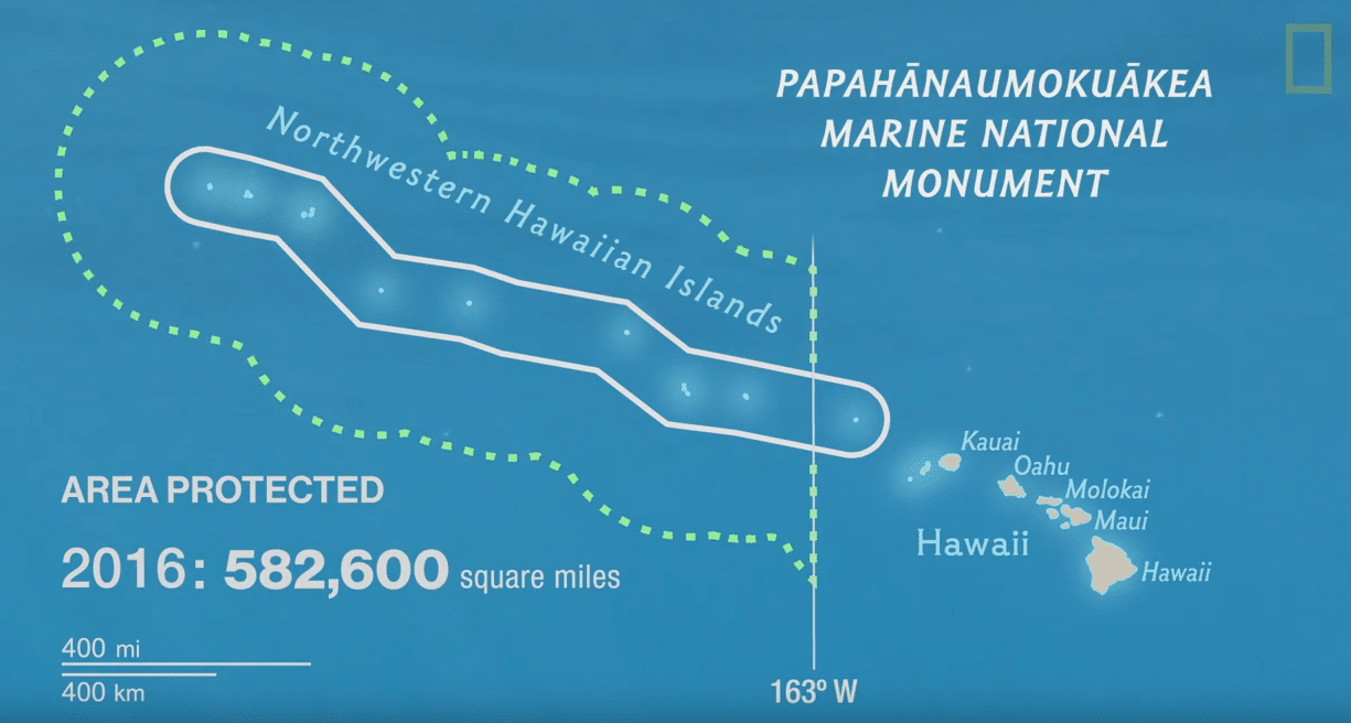 The Newly-Expanded Papahanaumokuakea Marine National Monument in Hawaii (photo credit: National Geographic)