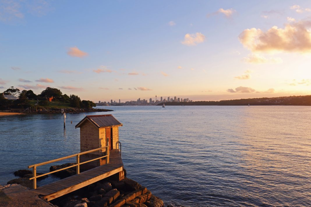 Golden hour view at Camp Cove, Sydney, Australia