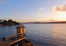 Golden hour view at Camp Cove, Sydney, Australia