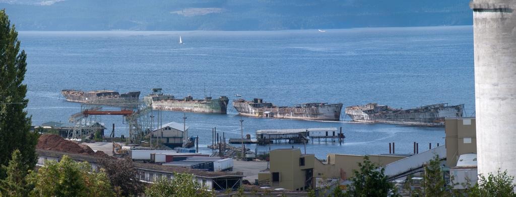 concrete ship wrecks at Powell River