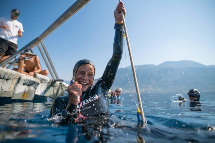 Nataliia Zharkova: 95m CWT - AIDA 2016 Team Freediving World Championships by Daan Verhoeven
