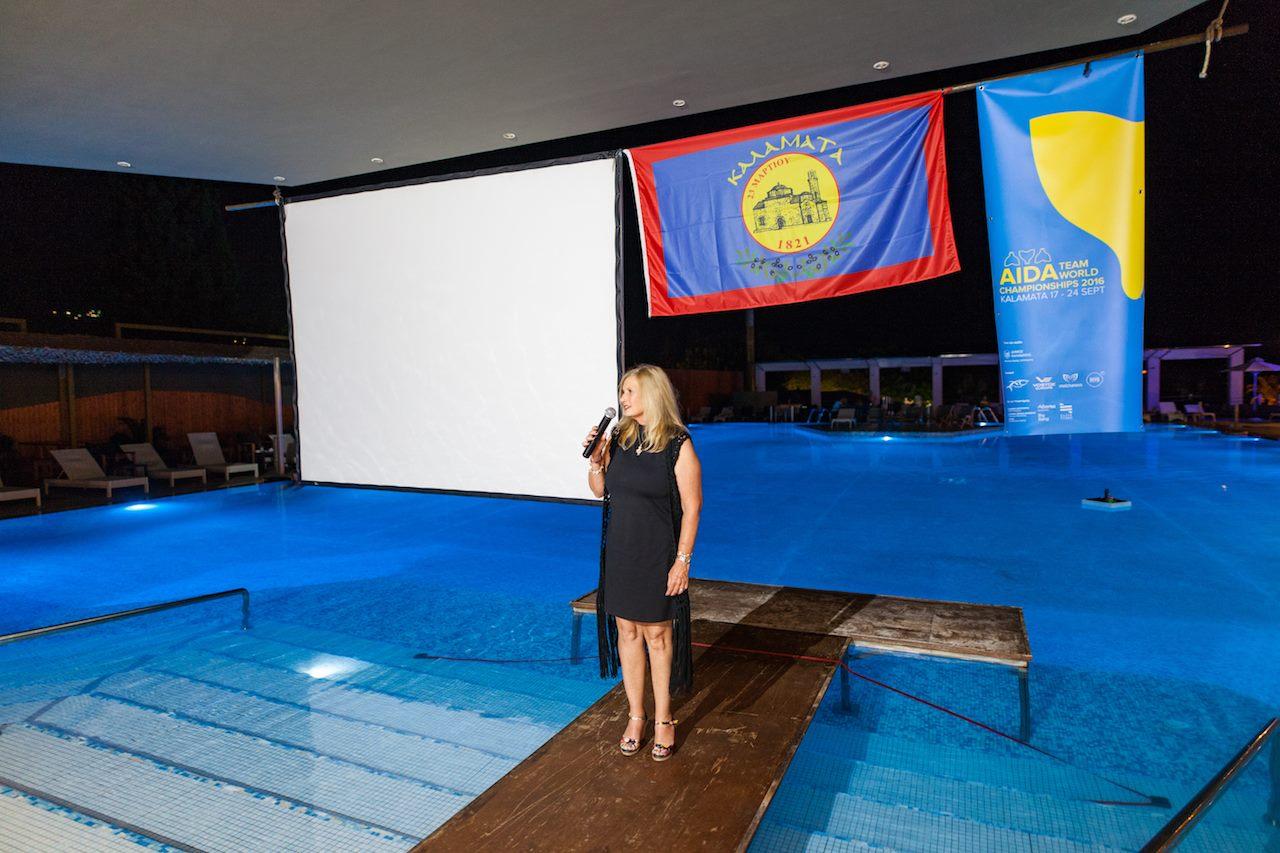 Carla Hanson, AIDA President - AIDA Team Freediving World Championships 2016