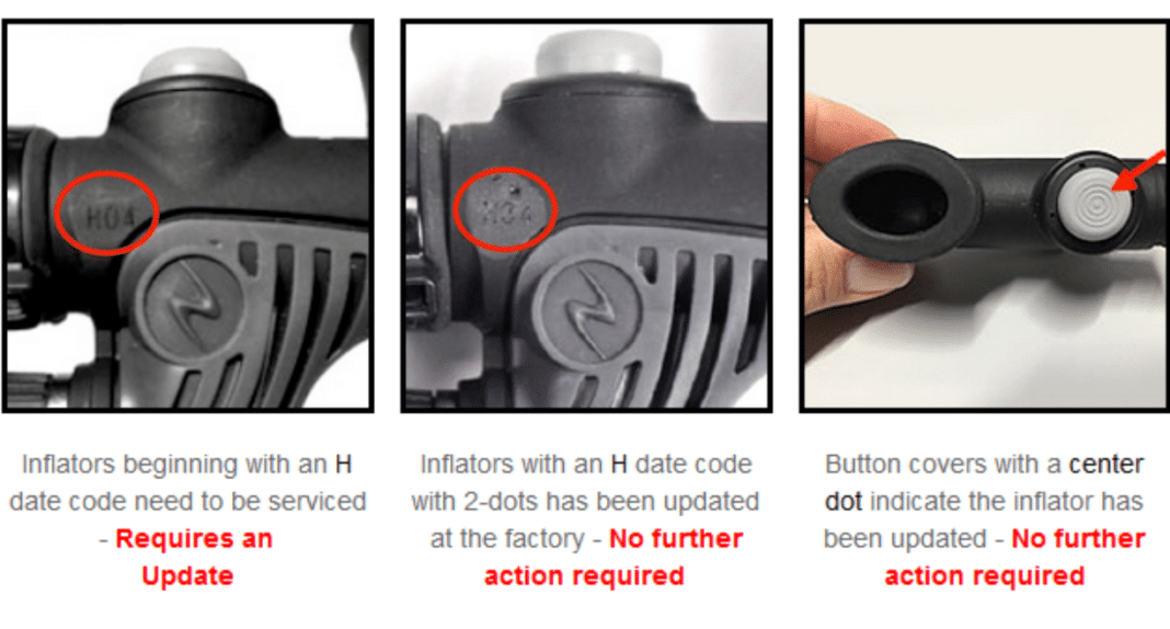 Aqua Lung Conducting Recall Of Certain Powerline BC Inflators