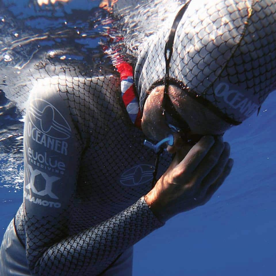 Ashley prepares for a CNF dive