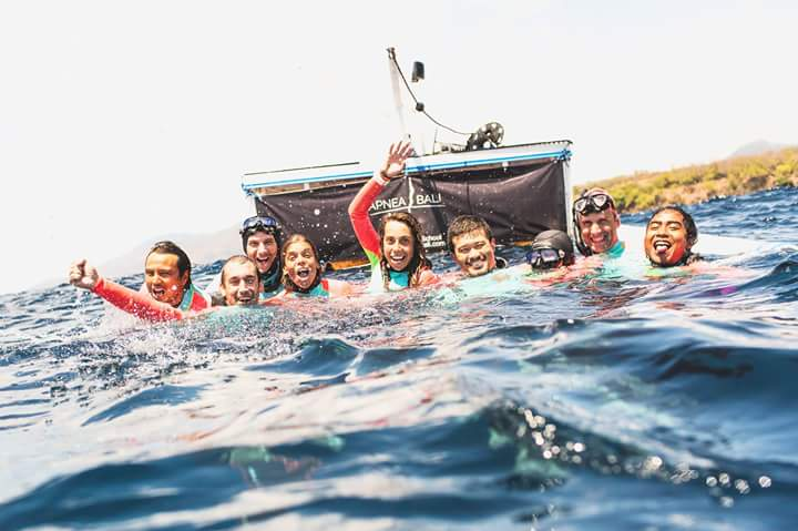 Apnea Bali's Safety Team at Australian Depth National Freediving Championship 2015. Photo: Julia Wheeler