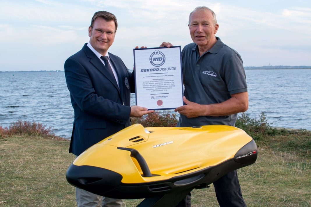 Wolfgang Kulov Sets World Record With SEABOB Water Sled