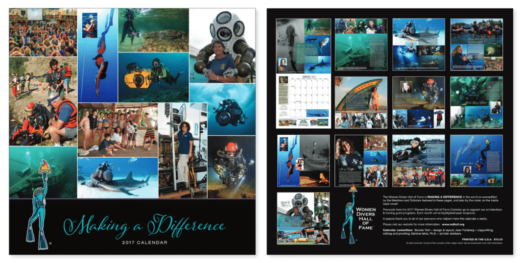 Women Divers Hall of Fame 2017 Calendar Now Available