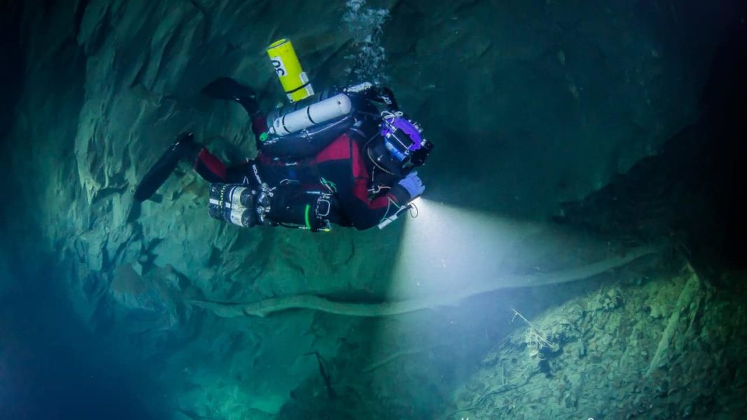 The Czech Republic Now Has The Deepest Underwater Cave In The World (Photo credit: Krzysztof Starnawski)