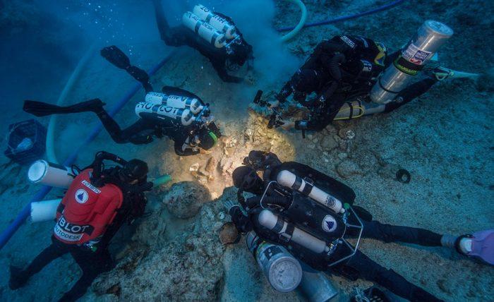 Human Skeleton Found In Aegean Sea Shipwreck (Photo credit: Brett Seymour, EUA/WHOI/ARGO)