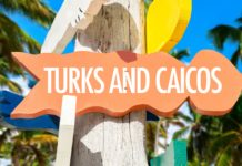 Turks and Caicos welcome sign
