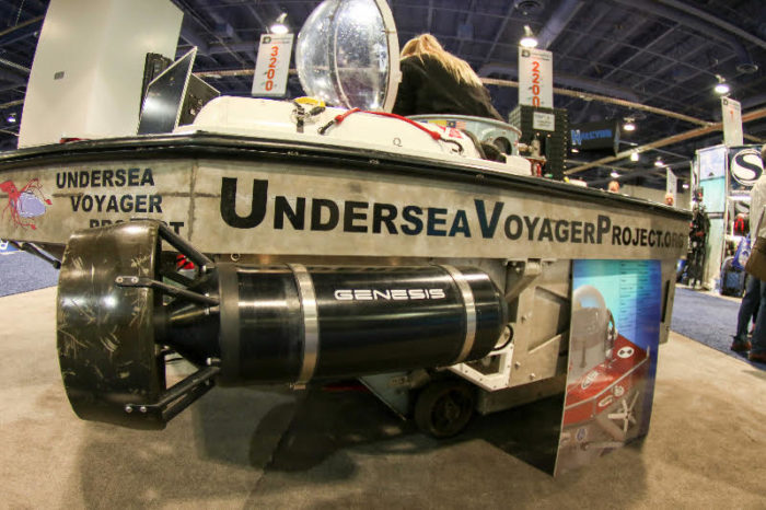 Genesis thrusters provide the force required to push the Great White forward over miles of open ocean