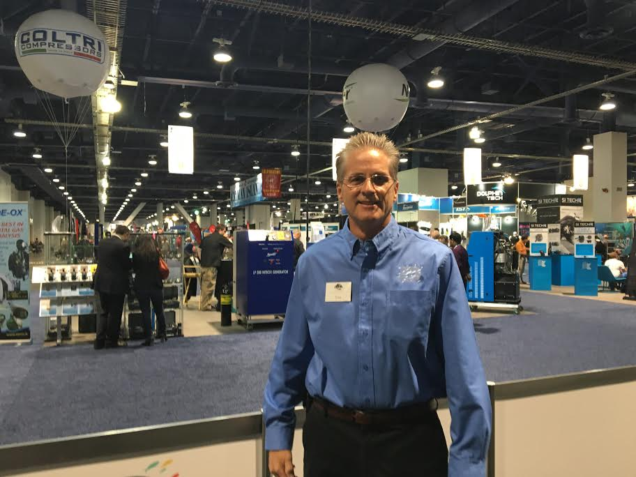 DEMA Executive Director Tom Ingram on the show floor