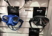 Mares' New Viper Freediving Mask (On right)